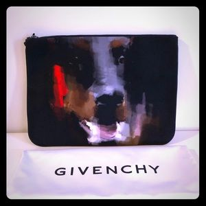 """Givenchy Rottweiler Cotton Pouch 13"""" x 9.5"""" NWT"""